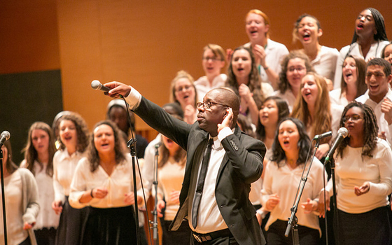 Ebony and ivory singers