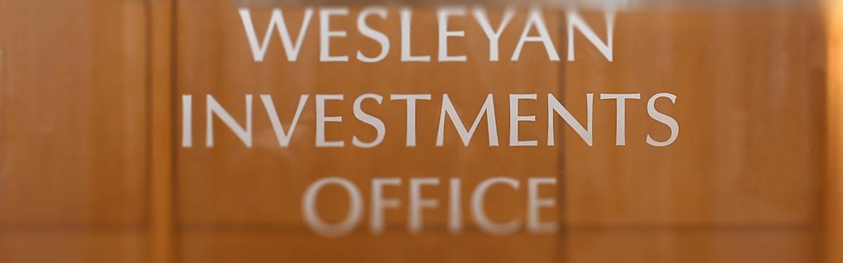 Anne Martin, Investments - Wesleyan University