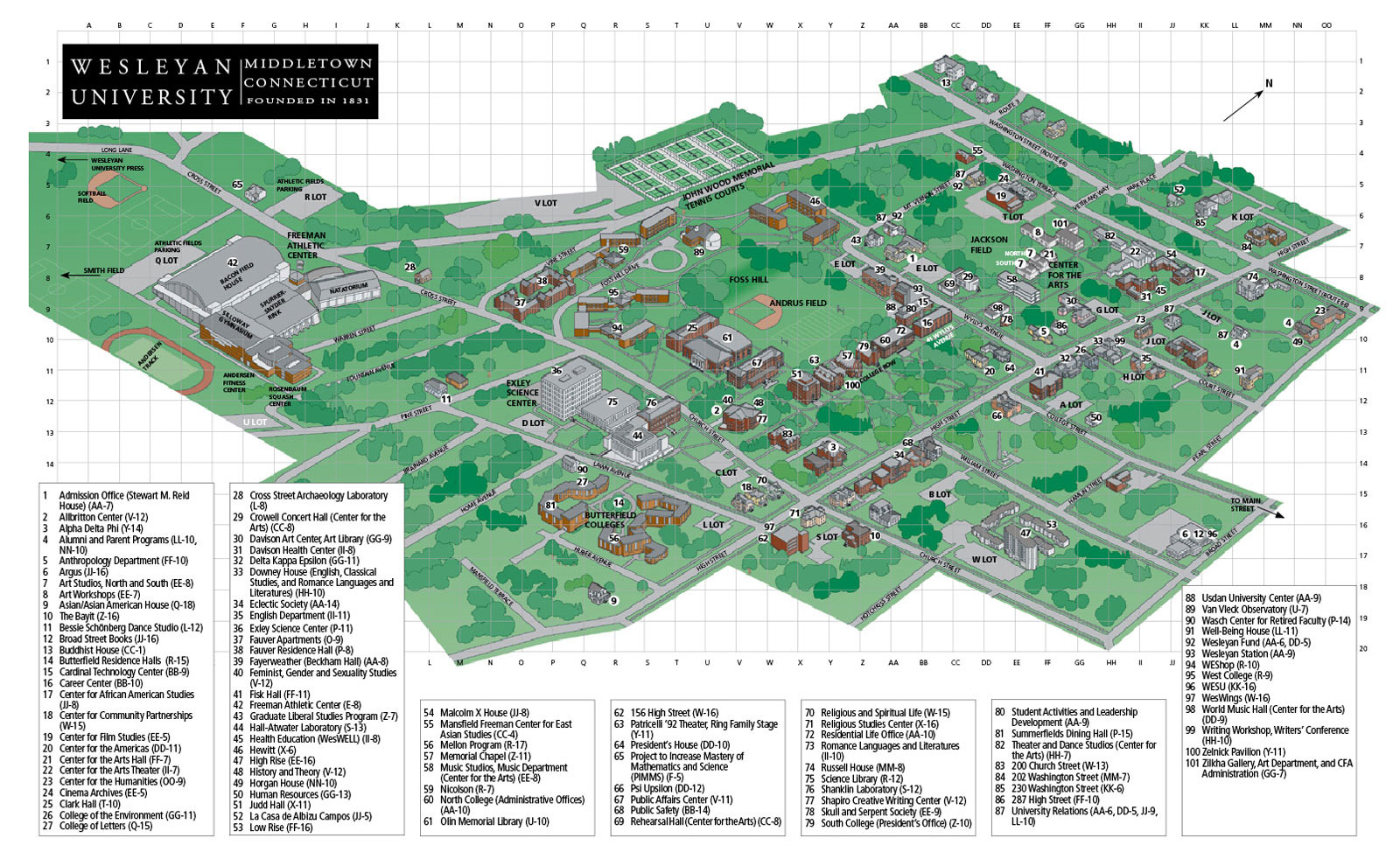 Phillips Exeter Academy Campus Map.Events Thoughts From Acui Region Viii Page 3