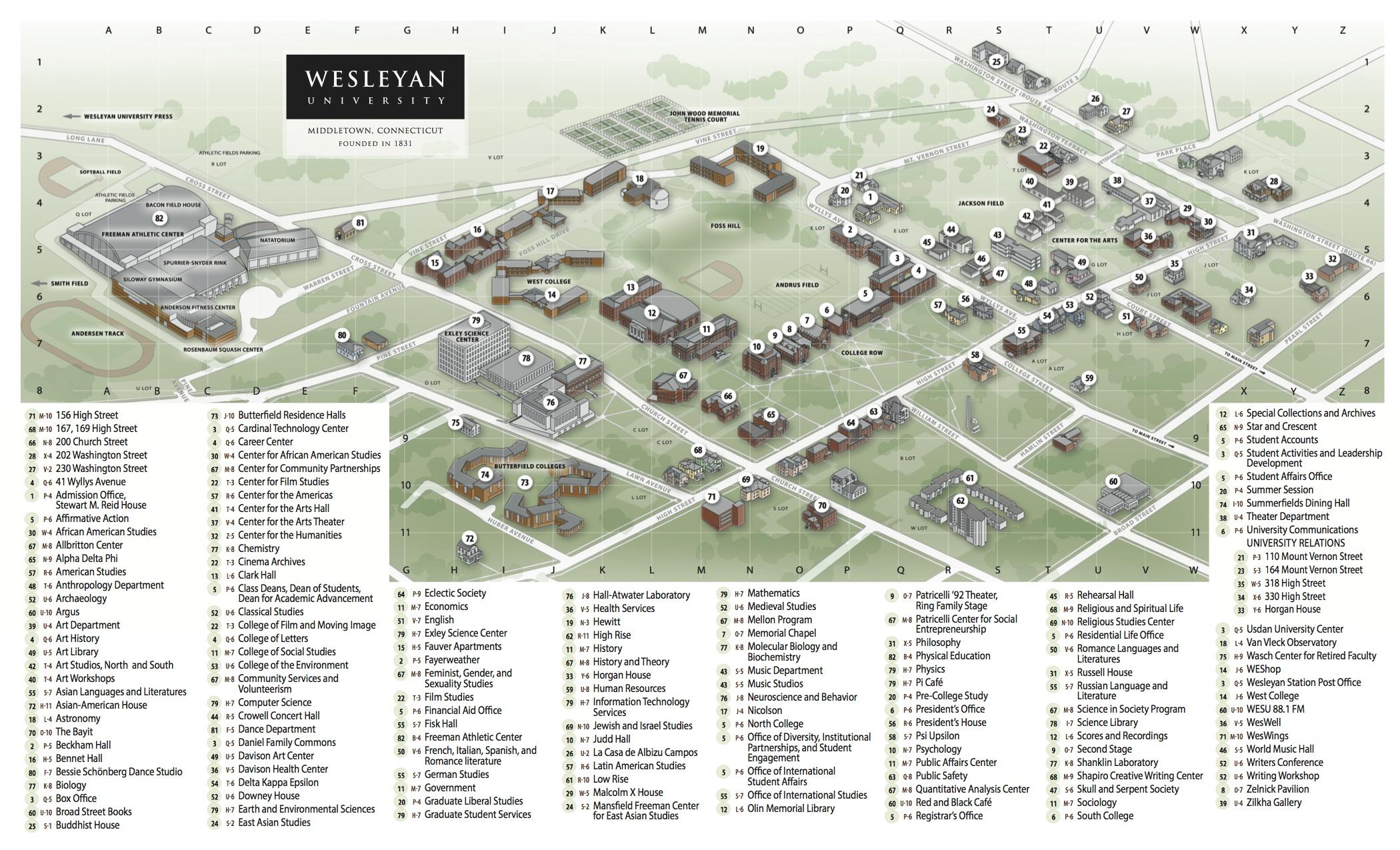 Wesleyan Map Helderateliers
