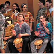 [African drumming]